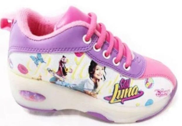 """Кроссовки на роликах Disney с LED подошвой """"Luna"""" детские (размер 36 -37), фото 2"""