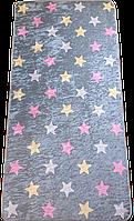 Ковер в детскую комнату 70*140 см Турция серый Звезды