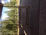 Кованый пуф банкетка с подлокотником 65 см, фото 2