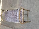Кованый пуф банкетка с подлокотником 65 см, фото 4