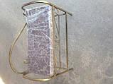 Кованый пуф банкетка с подлокотником 65 см, фото 5