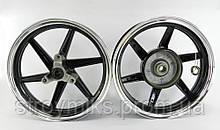 Диск Honda Dio Af-25/28/35 титановые, комплект передний+задний (черный)
