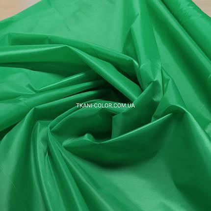 Тканина для підкладки нейлон зелений трава 170Т, фото 2