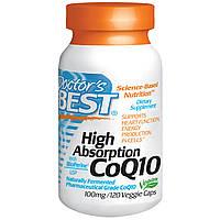 Коэнзим CoQ10, Doctor's Best, 100 мг, повышенной усваиваемости, 120 капсул. Сделано в США.
