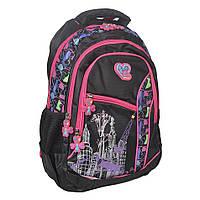 Шкільний рюкзак для дівчинки чорно-рожеве забарвлення