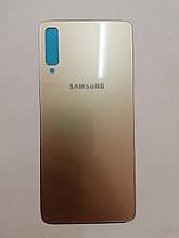Задняя крышка Samsung A7 2018 A750 Gold