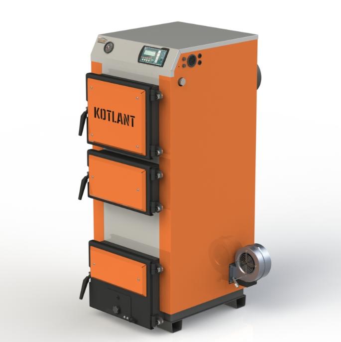 """Твердотопливный котел Kotlant КГ 19 кВт с электронной автоматикой """"TECH"""" с функцией ZPID"""