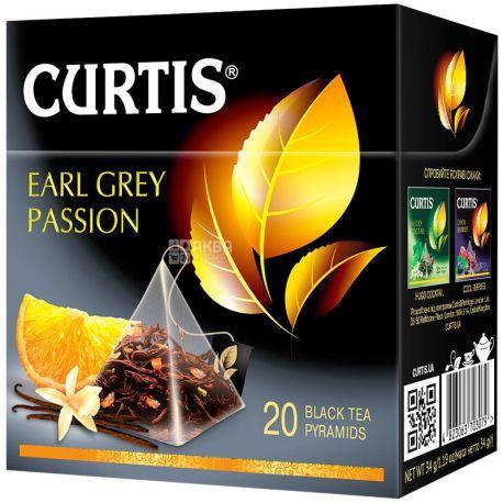 Чай листовий Curtis Earl Grey Passion чорний 20 пірамідок