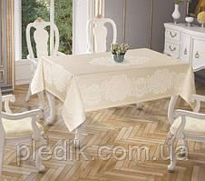 Скатертина 150х220 Tropik home Royal Cream 5698-5