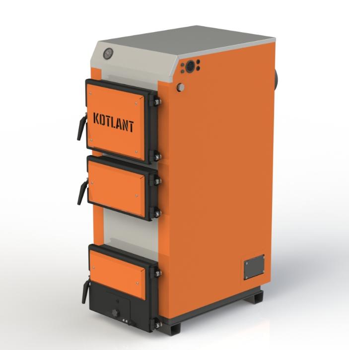 Твердопаливний котел тривалого горіння Kotlant КГ 27 кВт базова комплектація