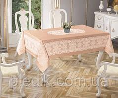 Скатертина 150х220 Tropik home Priencly Cappucino 5698-3