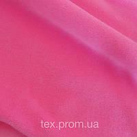 Трикотажное полотно велюр хб/пэ, розовый