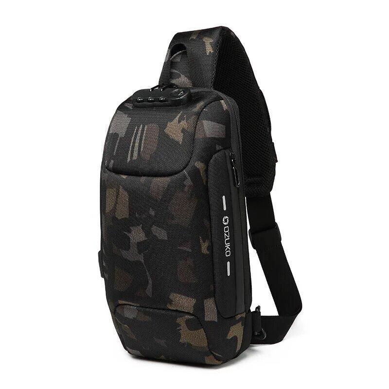 Рюкзак с одной лямкой OZUKO 9223 камуфляжний