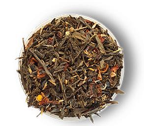 Зеленый чай с шиповником, клубникой, ромашкой и корицей Силуэт Афродиты 500 грамм