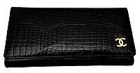 Кошелек женский кожаный черный chanel p 8605