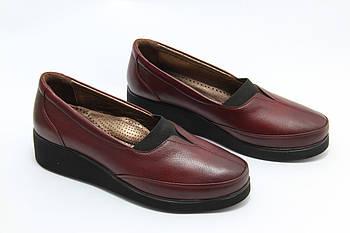 Туфли женские бордовые Doren 20195-014-bordo