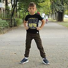 Штани для хлопчика на резинці Комбат Хакі р. 170 (98 см)