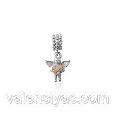Шарм серебряный Ангелочек