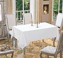 Скатертина 160х220 Tabe Joie Collection White біла