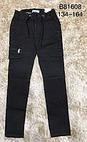 {есть:134,140,152} Котоновые брюки для мальчиков,  Артикул: B81608-хаки [152], фото 1