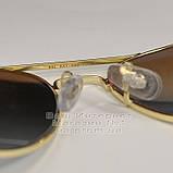 Чоловічі сонцезахисні окуляри Ray Ban Dimond Hard небитке скло Aviator RB 3026 Авіатори Рей Бан репліка, фото 4