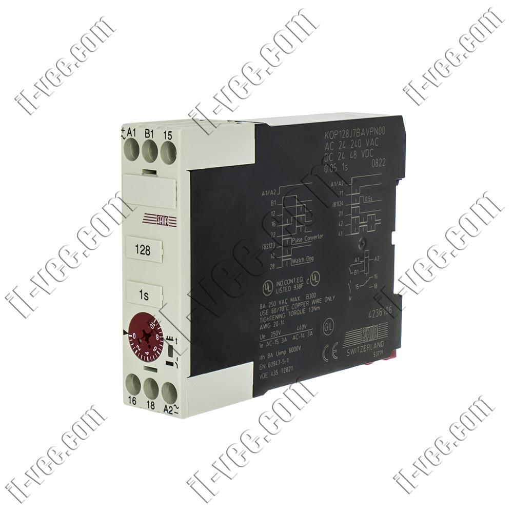Реле времени Saia-burgess KOP.J, KOP128J7BAVPN00, 24..240V AC/DC, SPDT, 8A/250VAC