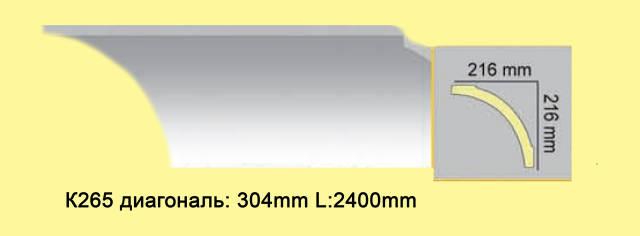 Плинтус из полиуретана К265, 216*216мм