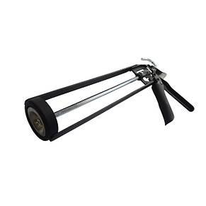 """Пистолет для выдавливания герметиков рамообразный усиленный, 225мм, """"скелет"""" INTERTOOL HT-0030, фото 2"""