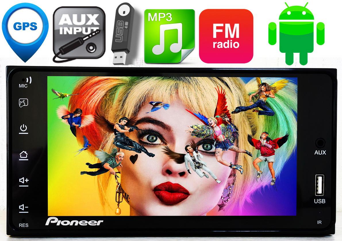 Штатная автомагнитола Toyota Pioneer 2DIN, 7'',GPS, 2/16GB Android10, IpTV, WIFI, FM, тойота,BT КОРЕЯ! 4x60W