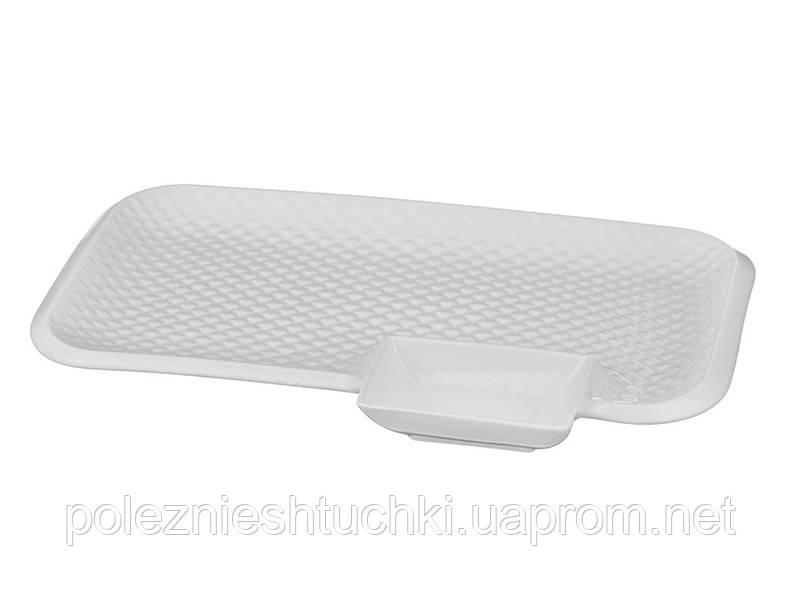 Блюдо прямоугольное 30 см без упаковки(упак=3шт.)