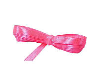 Лента атласная розовая 0,6 см длина 5 м