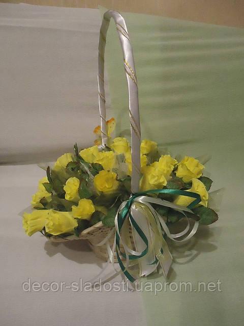 """Букет из конфет""""Желтые розы"""""""