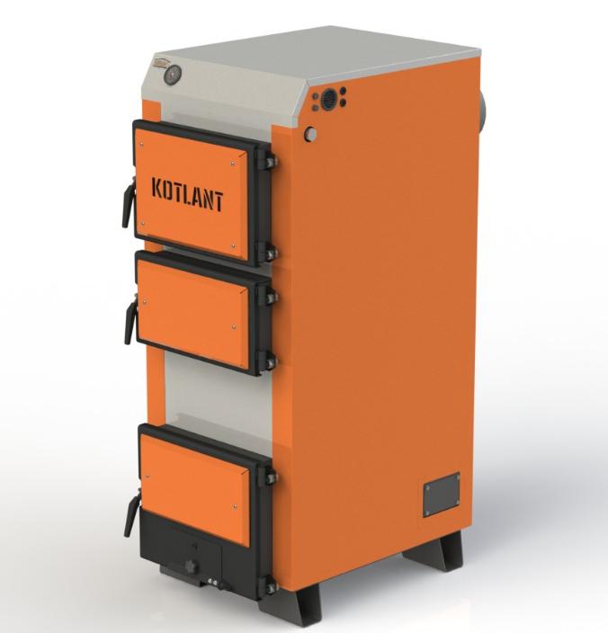 Твердотопливный котел длительного горения Kotlant КГ 30 кВт базовая комплектация