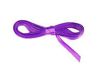 Лента атласная фиолетовая 0,6 см длина 5 м