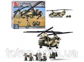 """Конструктор SLUBAN  """"Военный вертолет"""" 520 дет, M38 B 0508"""