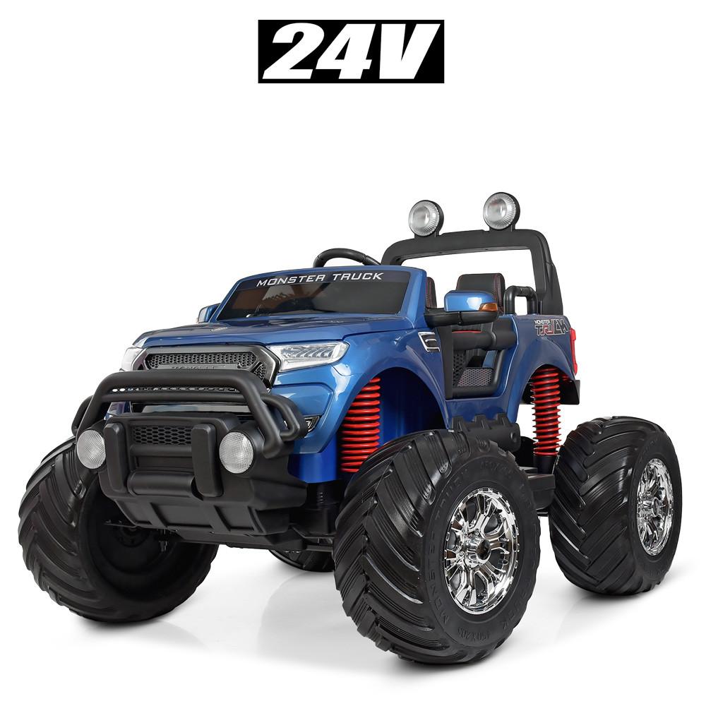 Двомісний дитячий електромобіль джип Ford Ranger Monster Truck M 4273ELS-4(24V)