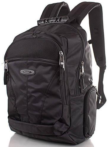 Мужской рюкзак с отделением для ноутбука ONEPOLAR (ВАНПОЛАР),  черный, 40 л.,W1077-2