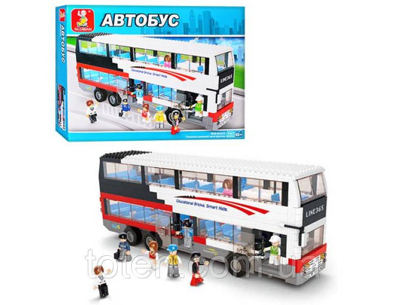 """Конструктор SLUBAN  """"Двухэтажный автобус"""" 741 дет, M38-B 0335"""