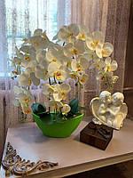 Орхидея светильник. Интерьерная композиция. Декоративный светильник.