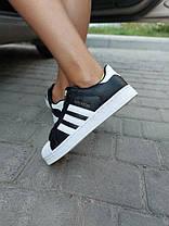 Кроссовки Adidas Superstar, Черно-Белые/ Кожа.Женские/жіночі  Кросівки, Шкіра, фото 3
