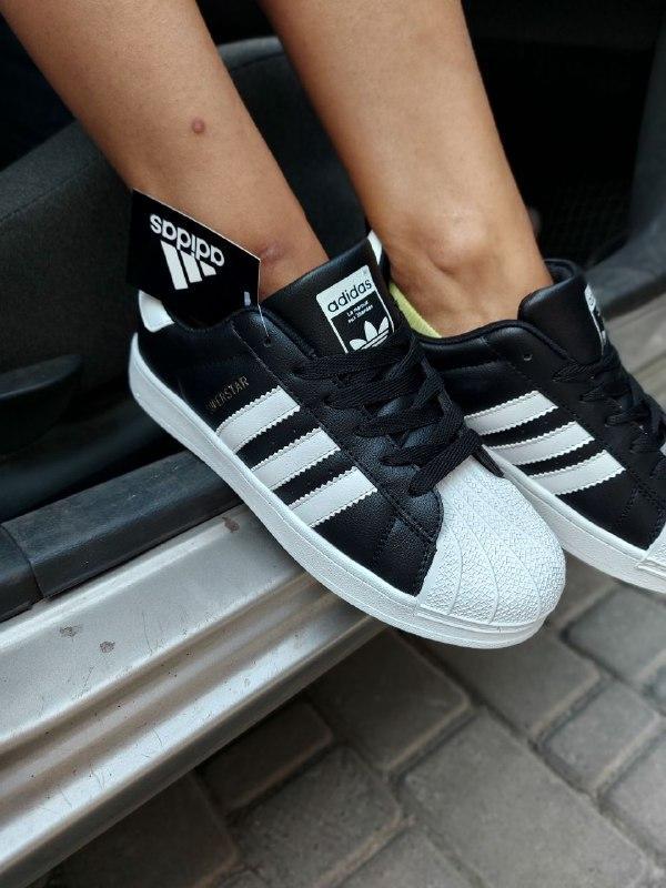 Кроссовки Adidas Superstar, Черно-Белые/ Кожа.Женские/жіночі  Кросівки, Шкіра