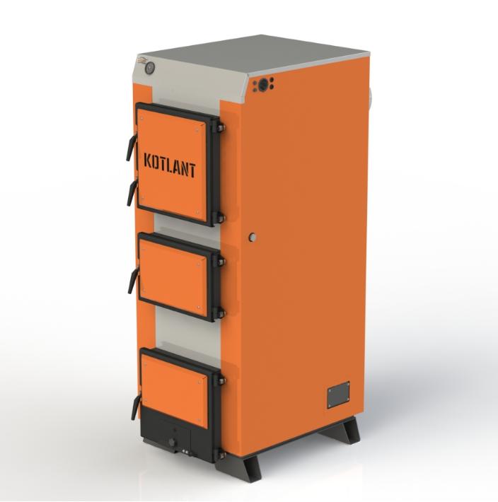 Твердотопливный котел длительного горения Kotlant КГ 95 кВт базовая комплектация
