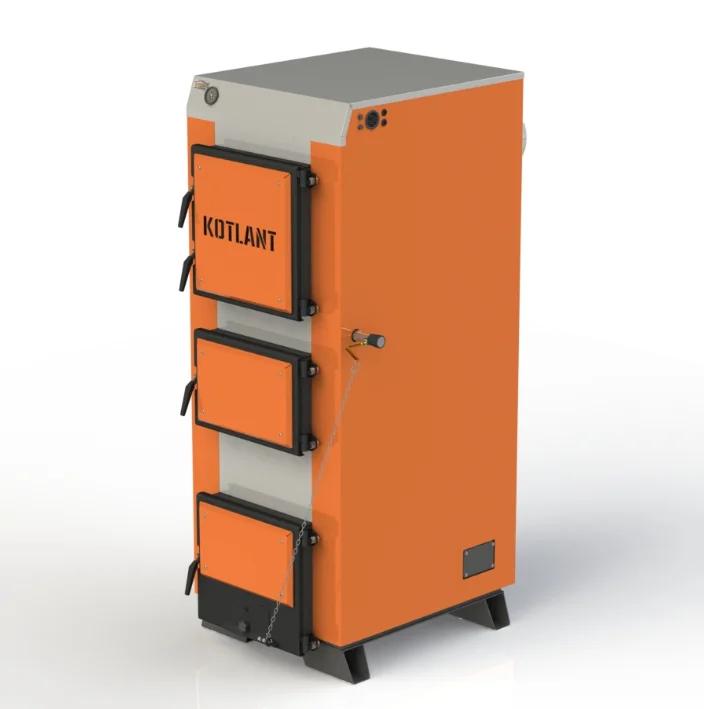 Твердотопливный котел длительного горения Kotlant КГ 95 кВт с механическим регулятором тяги