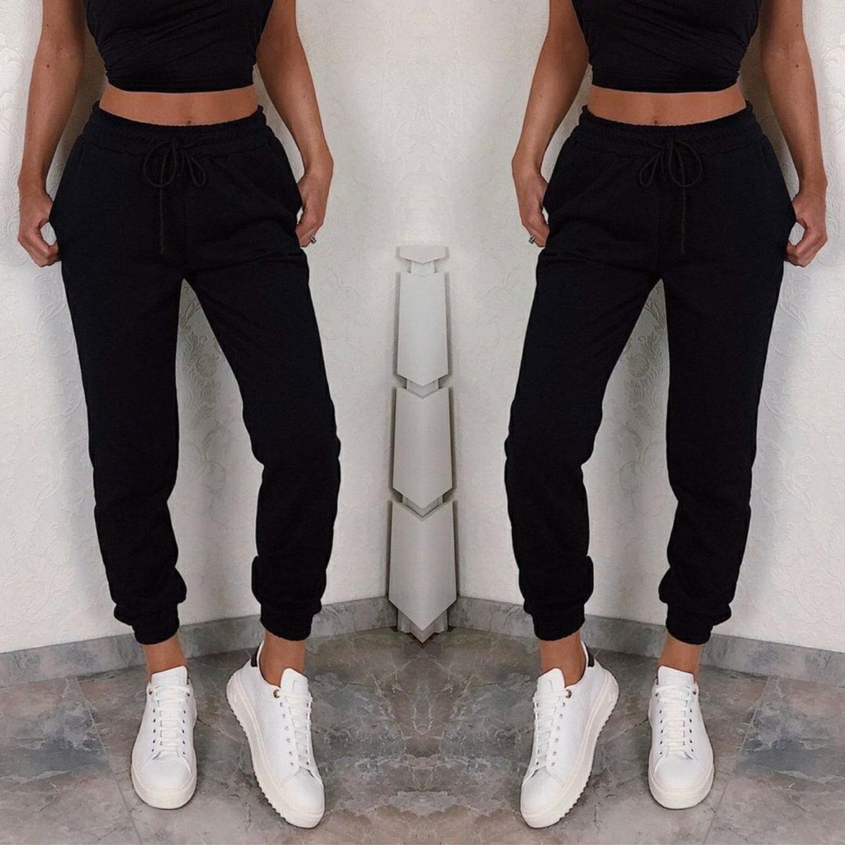 Женские спортивные штаны с высокой талией