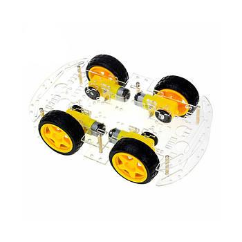 Акрилова платформа шасі 4WD для машинки Arduino