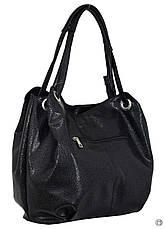 Жіноча містка сумка кожзам 321 пітон чорна ікра, фото 2