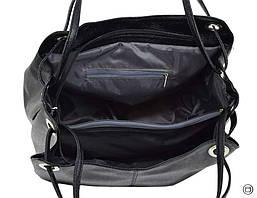 Жіноча містка сумка кожзам 321 пітон чорна ікра, фото 3