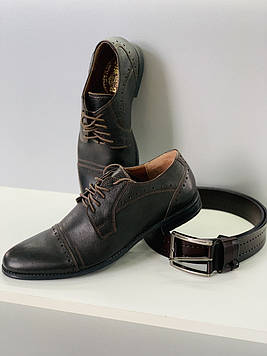 Туфли мужские Bonis / Классические мужские туфли натуральная кожа