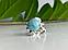 Серебряное кольцо с камнем ларимар   Небо, фото 2
