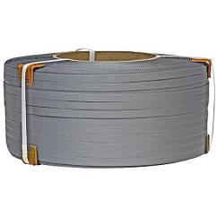 Лента упаковочная полипропиленовая 19 мм х 0.9 мм х 1000 м (серая)